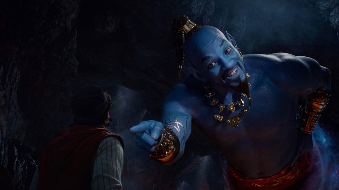 Aladdin Genie Will Smith lacks animated cartoon features