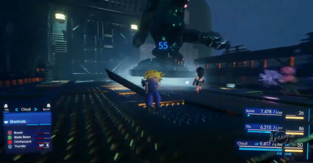 Dreams Final Fantasy VII Remake