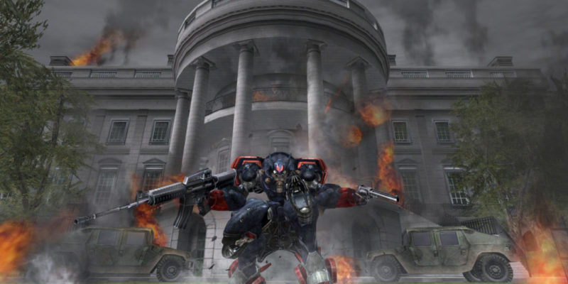 Metal Wolf Chaos Skewers the Fighting President Trope and America Itself