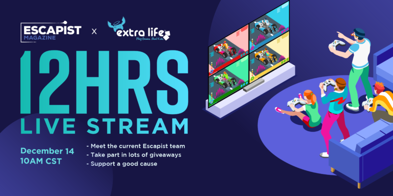 The Escapist Extra Life charity stream Saturday, Dec. 14