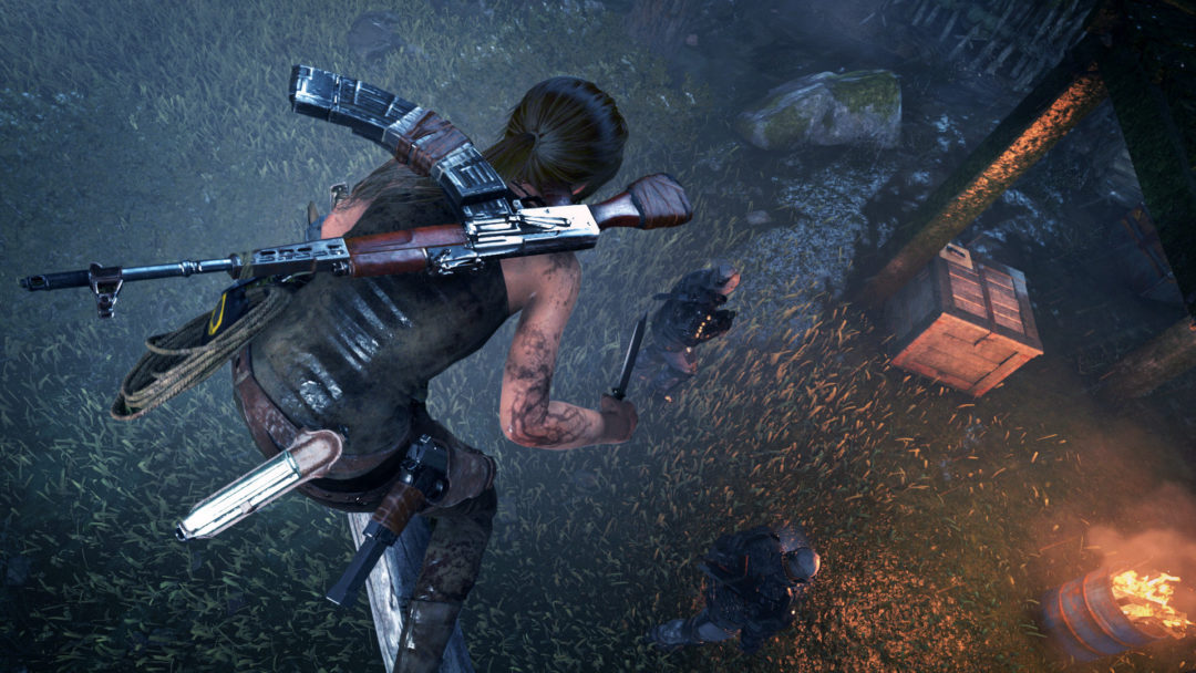 Rise of the Tomb Raider stealth kills are kind of stupid