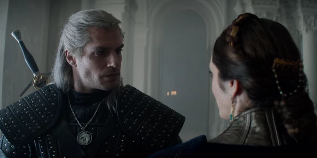 The Witcher confronts Queen Calanthe
