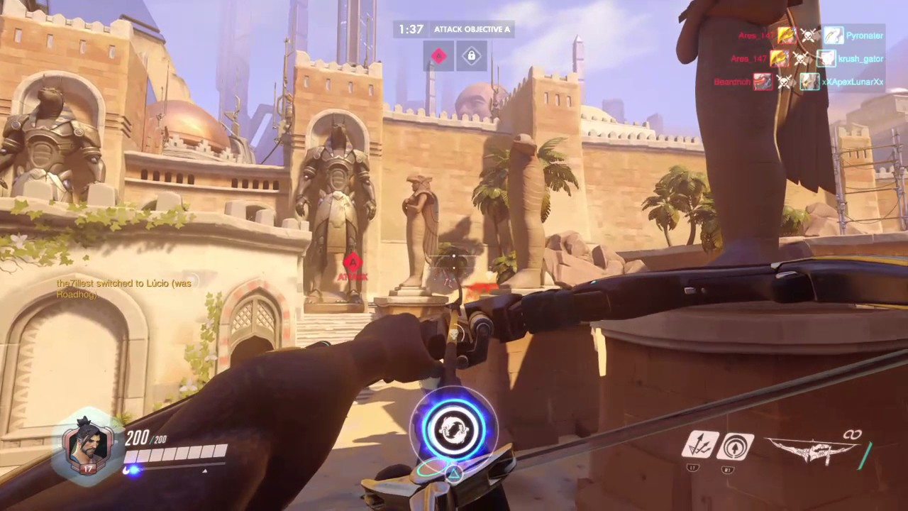 Overwatch gameplay Hanzo Next Generation of a geek 8 year old son better