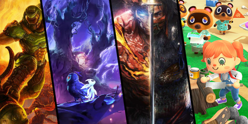 march 2020 single player games Ori and the Will of the Wisps, Nioh 2, Doom Eternal, and Animal Crossing: New Horizons